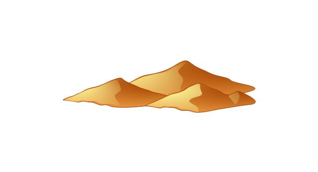 640x348 Hill Clipart Brown Mountain