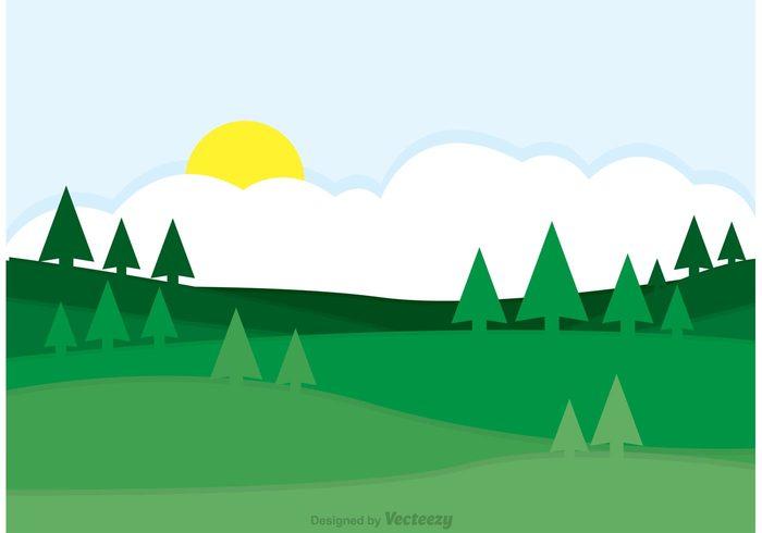 700x490 Rolling Hills Landscape Clip Art Cliparts