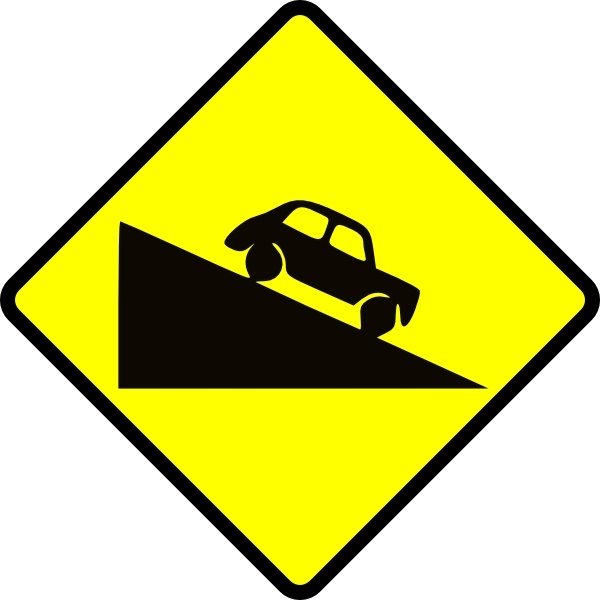 600x600 Caution Steep Hill Clip Art Free Vector In Open Office Drawing Svg