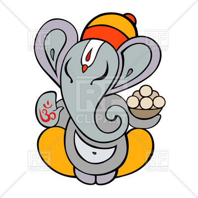400x400 Hindu God Ganesha Royalty Free Vector Clip Art Image
