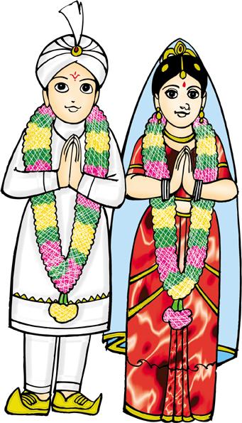 341x595 Hindu Clipart Colour