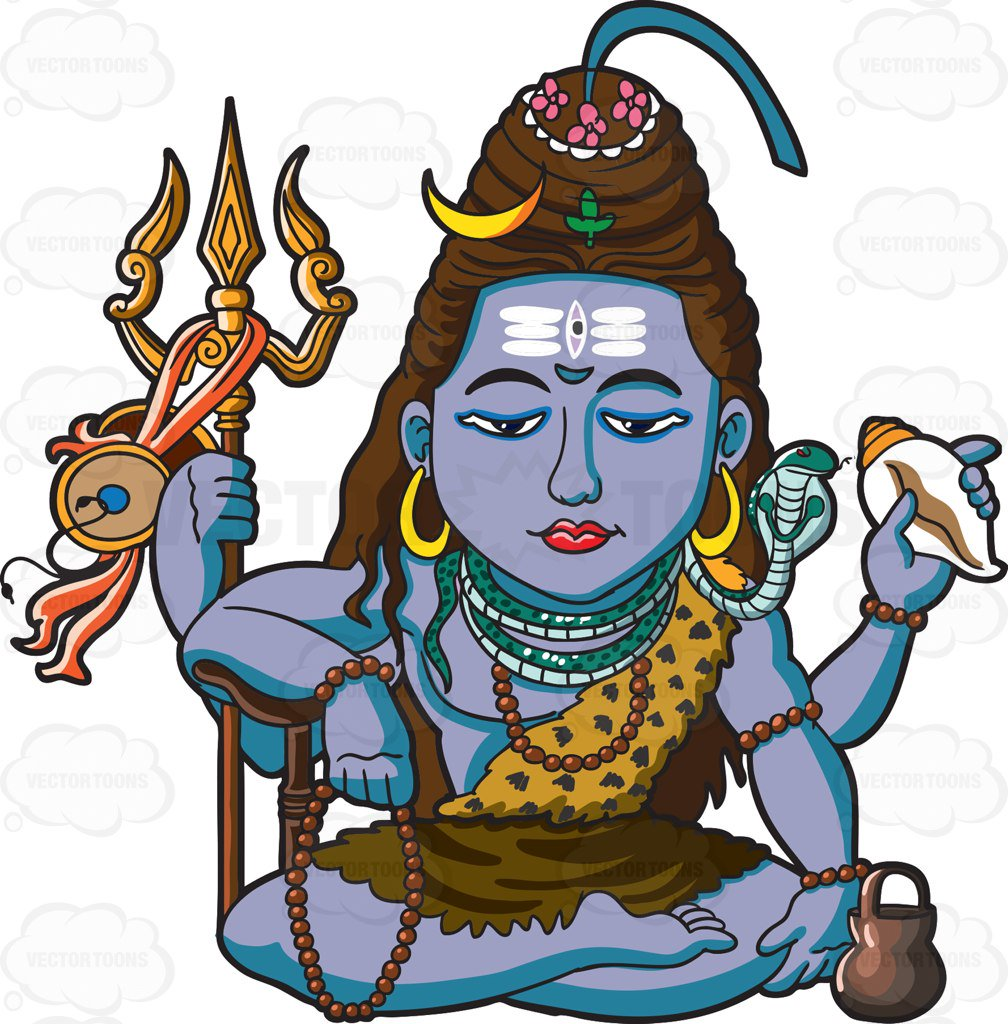 1008x1024 The Hindu God Shiva Cartoon Clipart