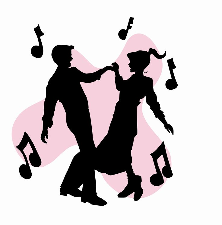 736x745 50s Sock Hop Dancers Silhouettes Clipart Homecoming Ideas