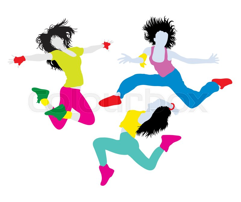 800x671 Modern Dancing Girl, Hip Hop Break Dance Activity, Illustration