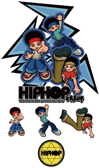 335x565 Hiphop Cartoon Characters Vector Free Vector In Adobe Illustrator