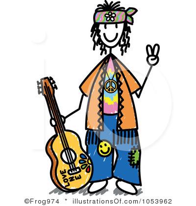 400x420 Guitar Clipart Hippie