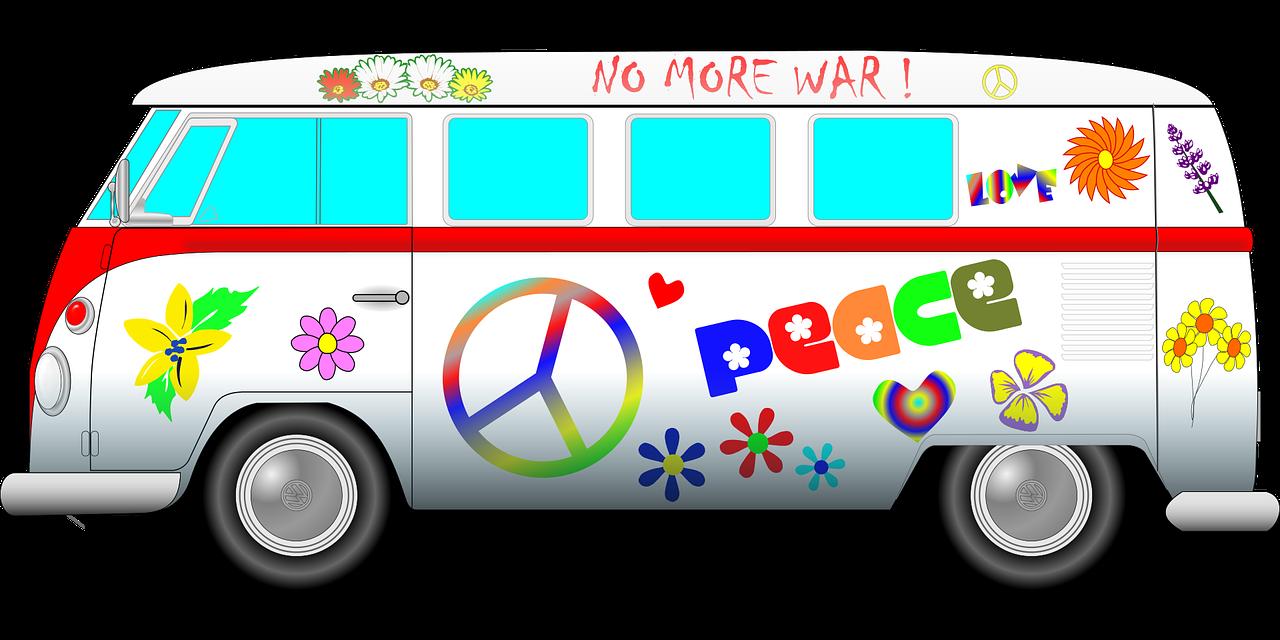 1280x640 Camper Clipart Hippie Van