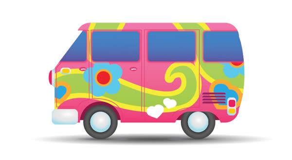 600x329 Hippies Clipart Cute