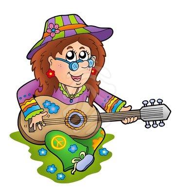 368x400 Instrument Clipart Hippie