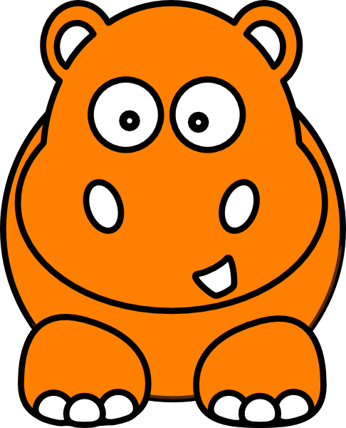 Hippo Clipart Black And White | Free download on ClipArtMag