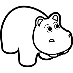 300x300 Hippo Line Art Clipart, Cliparts Of Hippo Line Art Free Download