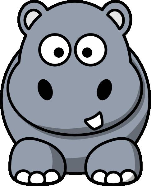 486x600 Hippo Clip Art