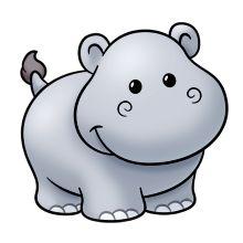 220x220 Adorable Clipart Baby Hippo