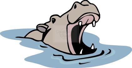 421x219 Hippo clipart hippopotamus clipart 2 image