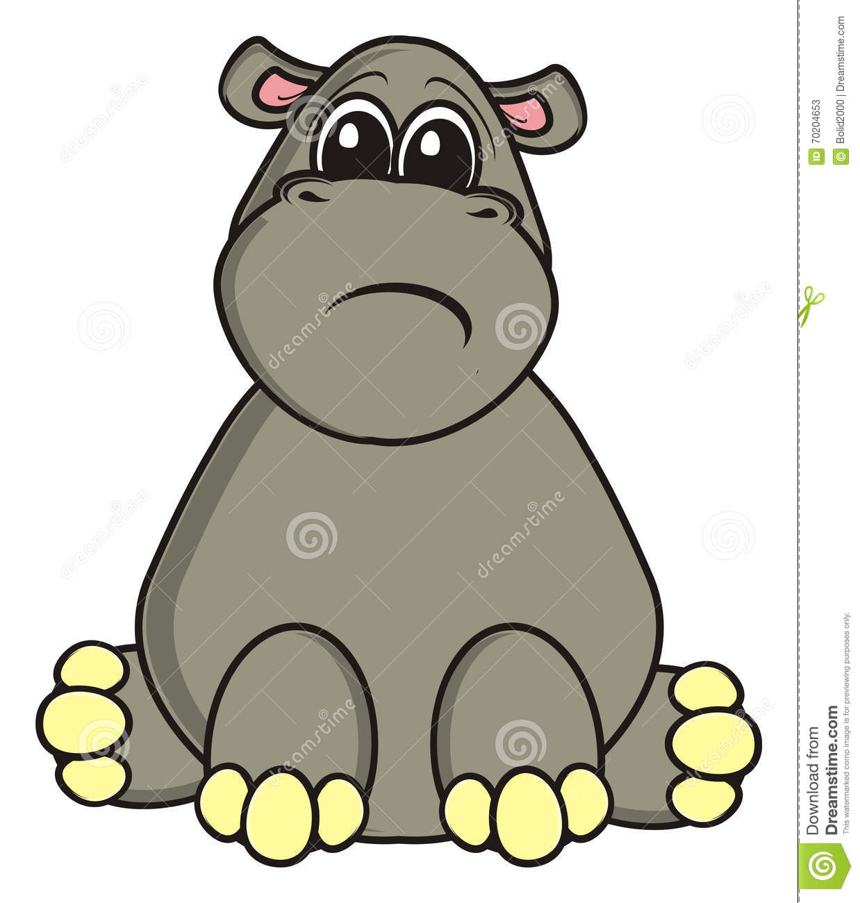 1238x1300 Hippo clipart sad