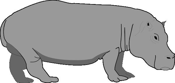600x285 Hippopotamus 4 Clip Art