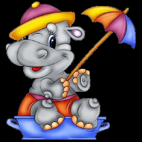 600x600 Hippopotamus Cartoon Clip Art Images Are On A Transparent
