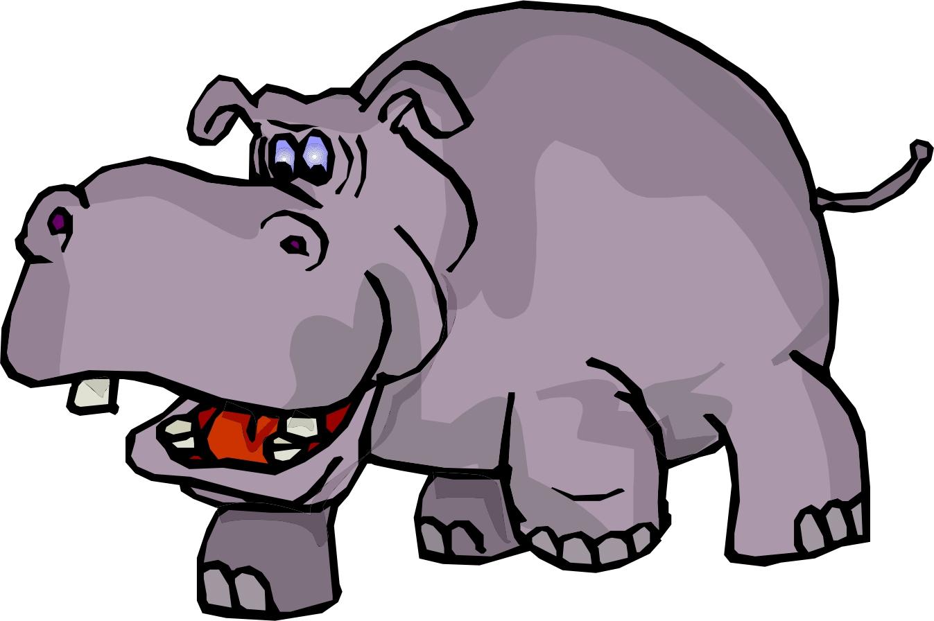 1347x896 Hippopotamus clipart free images 3