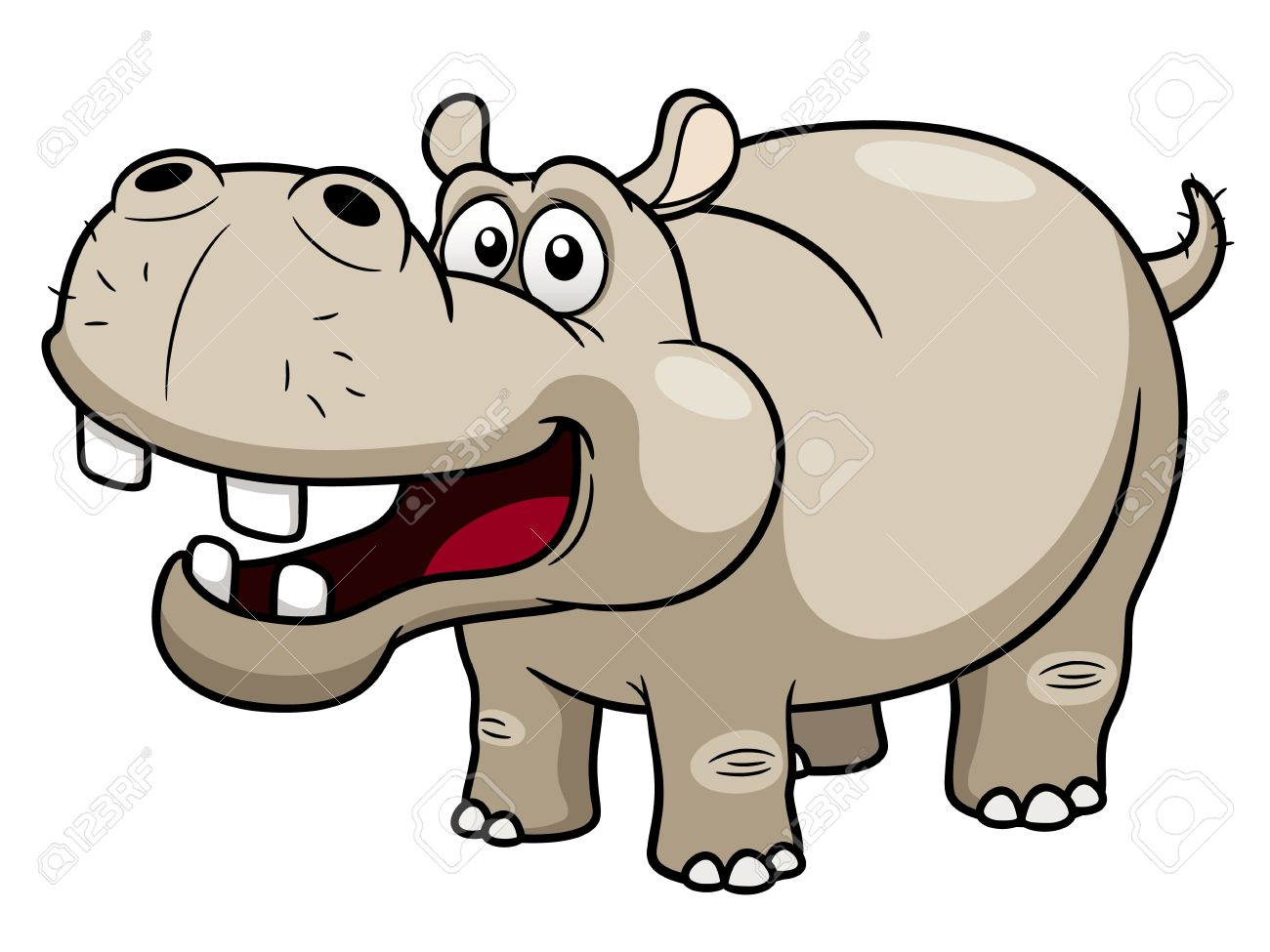 1300x975 Illustration Of Cartoon Hippopotamus Royalty Free Cliparts