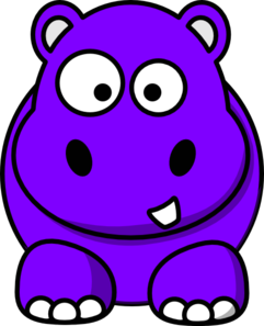 241x297 Purple Hippo Clip Art