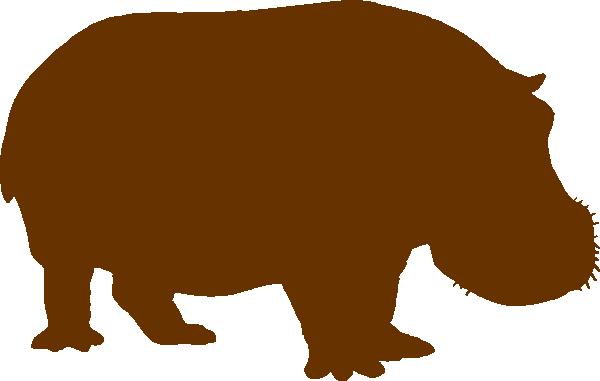 600x381 Brown Hippo Clip Art