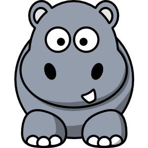 300x300 Clip art hippo