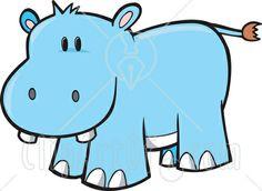Hippopotamus Clipart Free