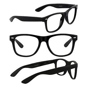 300x300 Men's Retro Glasses Nerd Geek Hipster Fake Eye Glasses W Clear