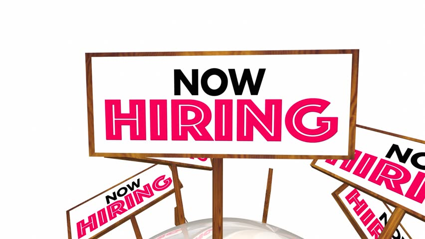 852x480 Now Hiring Help Wanted Open Jobs Positions Signs 3d Animation