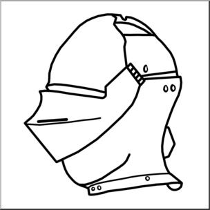 304x304 Clip Art Medieval History Knight's Helmet Bampw I