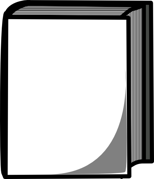 516x597 Black And White Book Clipart