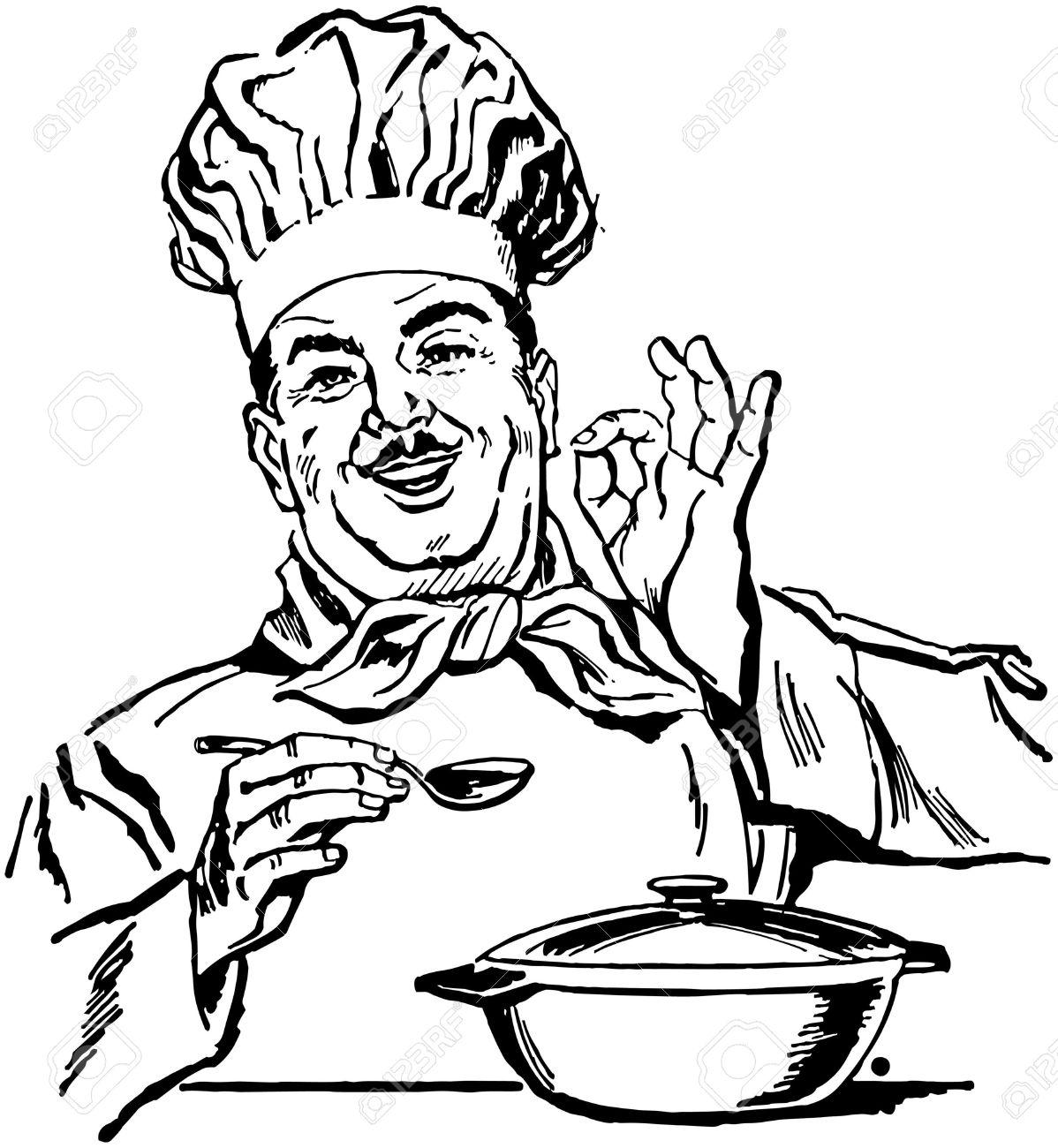 1198x1300 Italian Chef Clipart