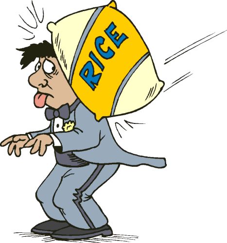 467x500 Hit With Sack Of Rice Clip Art Download