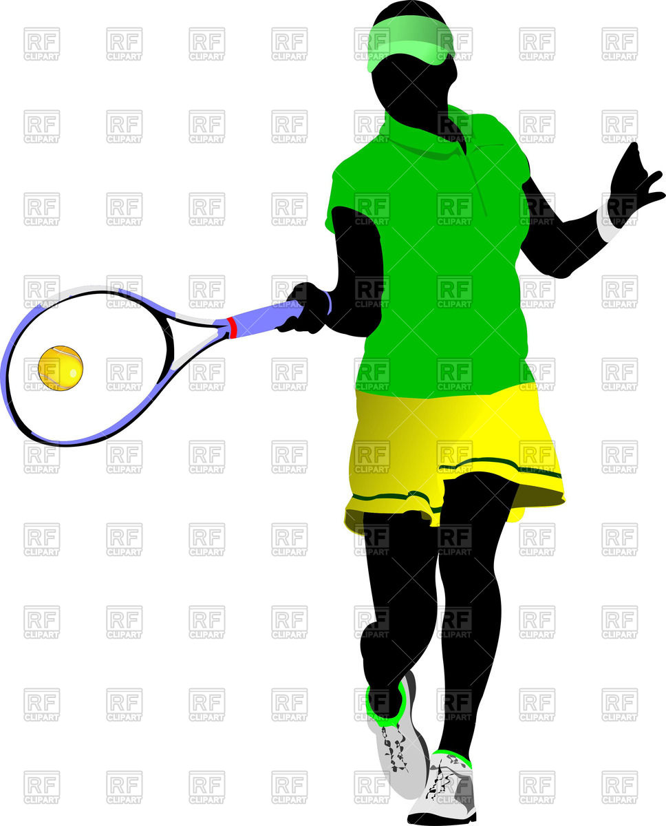 968x1200 Silhouette Of Woman Tennis Player Hit Ball Royalty Free Vector