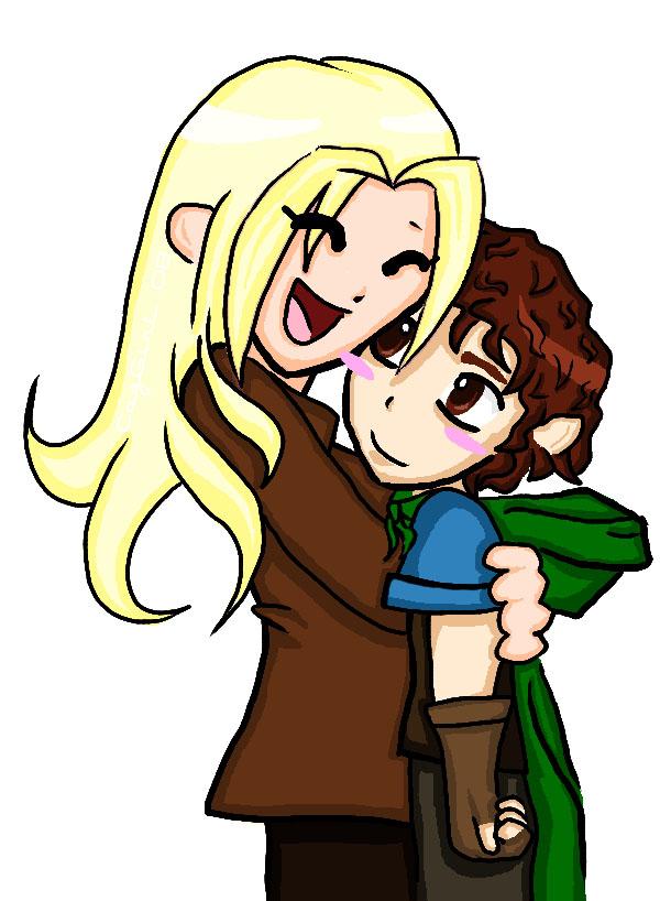 600x818 Bilbo Hobbit Hug By Cazgirl