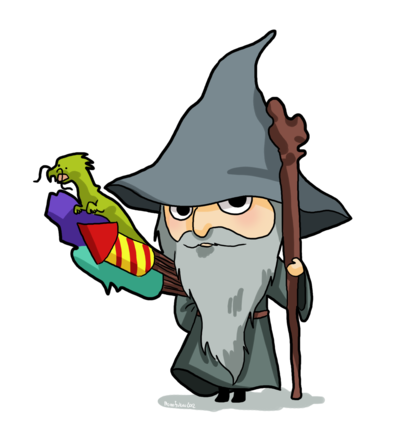 400x421 Hobbit Clipart Gandalf
