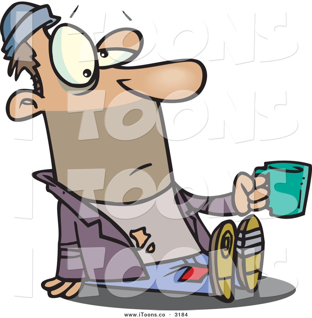 1024x1044 Vector Clip Art Of A Caucasian Homeless Beggar Person Sitting