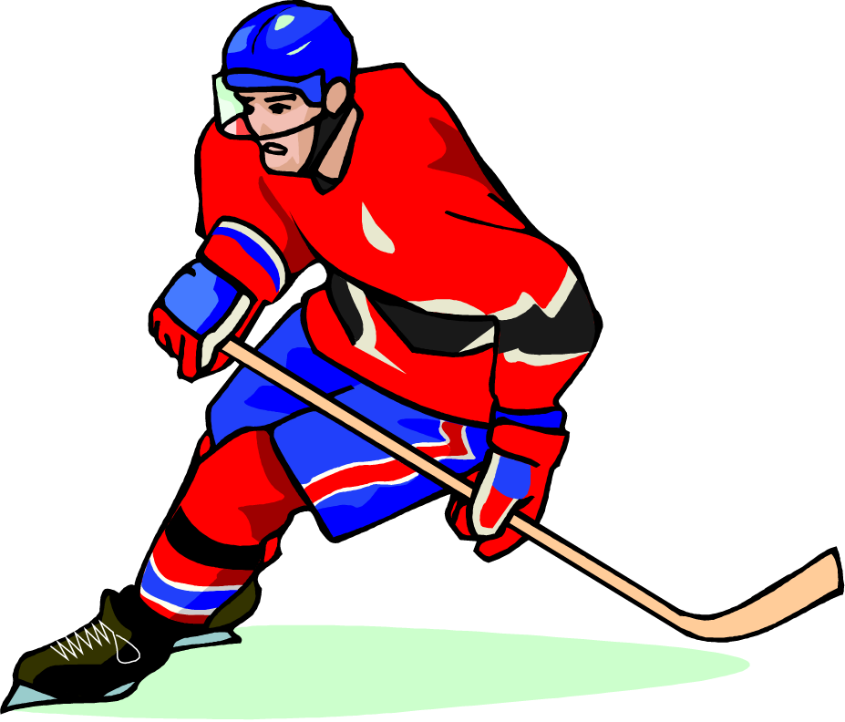 927x792 Free hockey player vector art clip art image from Free Clip Art