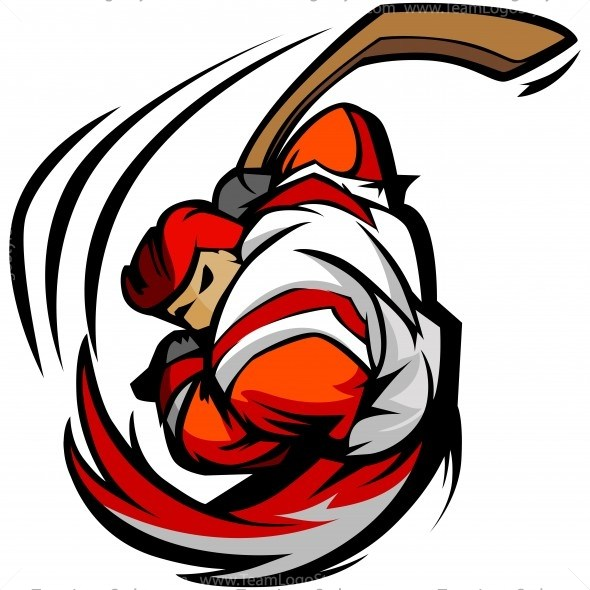 590x590 Hockey Player Clip Art