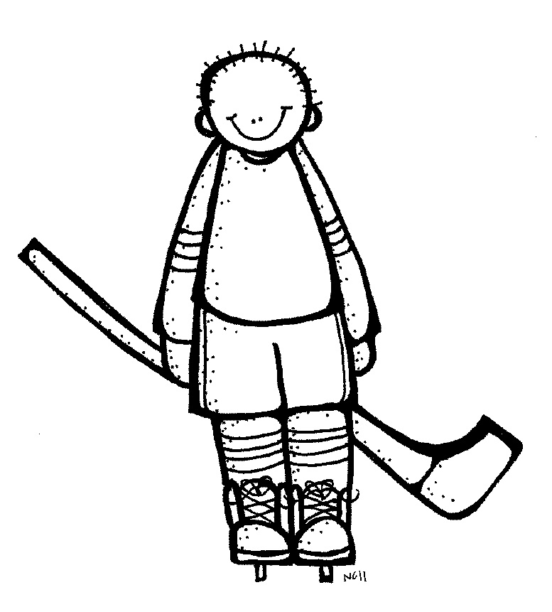 777x861 Hockey Player Clipart