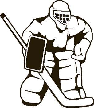 306x350 Hockey clip art image
