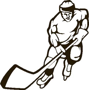 347x350 Hockey clip art images free clipart images