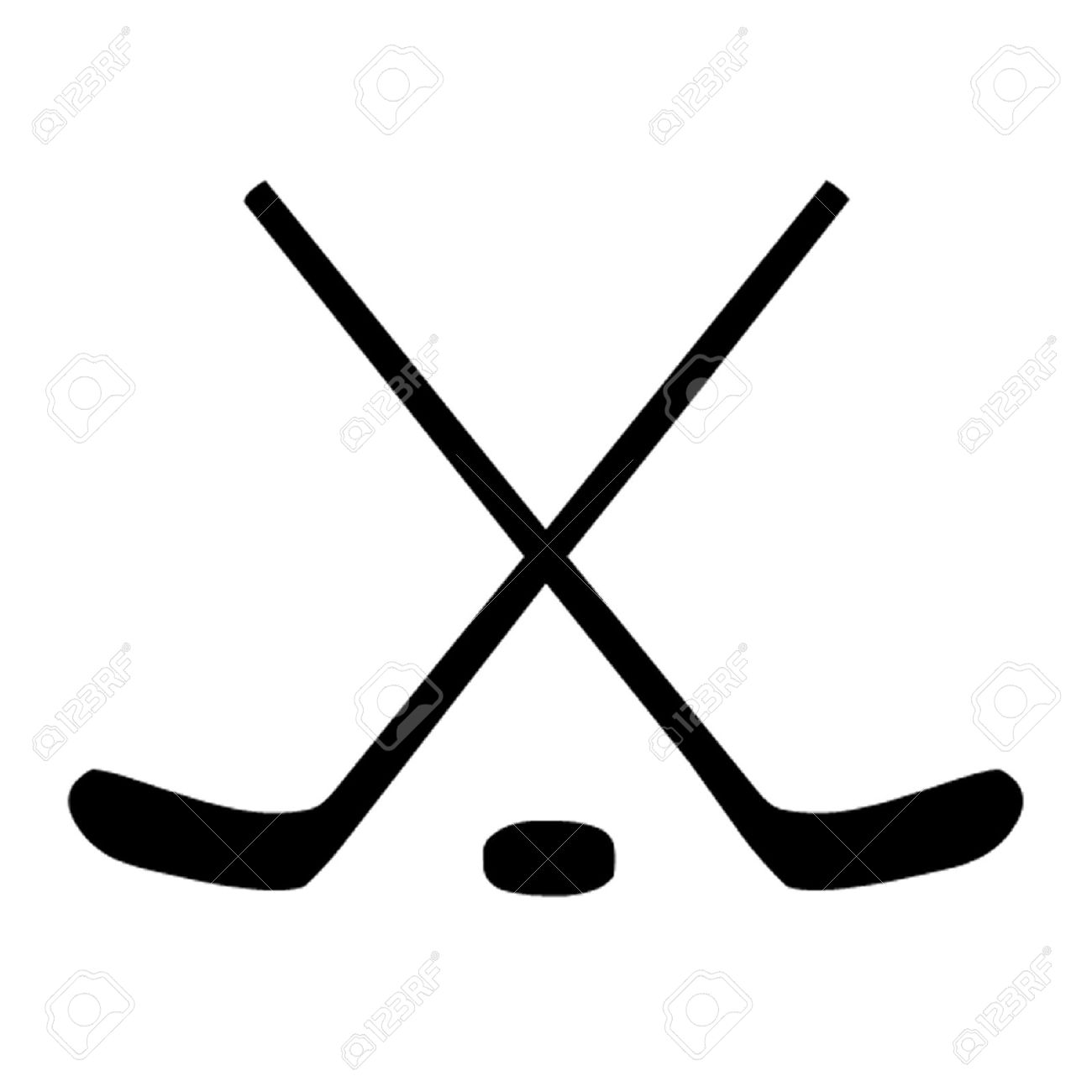 1300x1300 Black clipart hockey stick