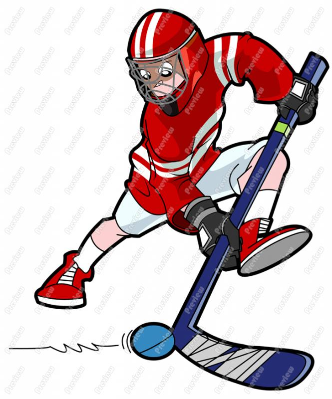 665x800 Male Ball Hockey Player Clip Art