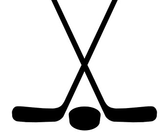 340x270 Red Ice Hockey Stick Clipart