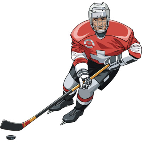 600x600 Hockey Player Free Images