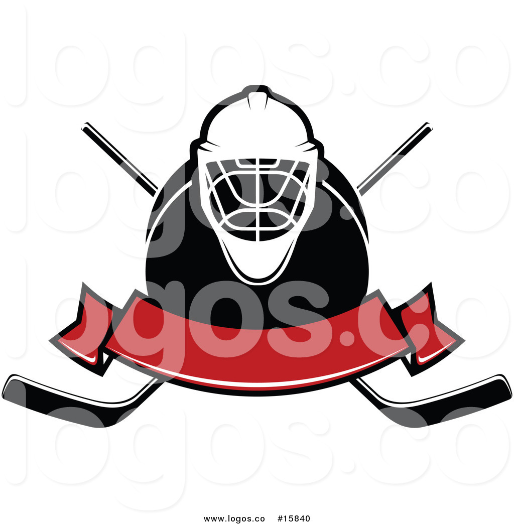 1024x1044 Royalty Free Vector Logo Of A Hockey Banner With Mask, Puck,