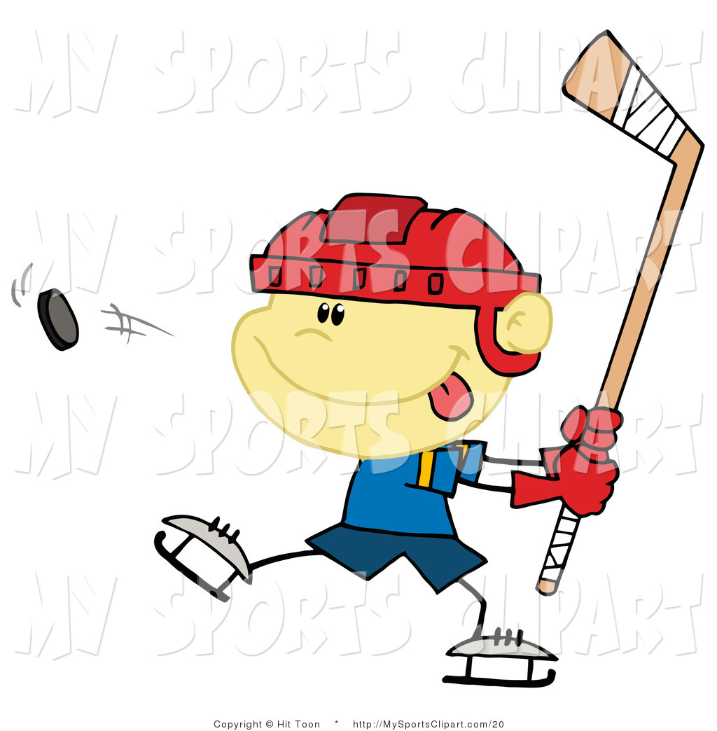 1024x1044 Sports Clip Art Of A Boy Swinging A Hockey Stick By Hit Toon