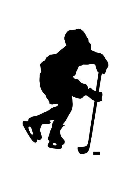 429x600 Free Hockey Player Silhouette Clipart