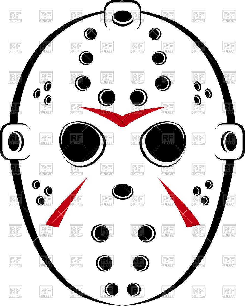 963x1200 Hockey Mask Royalty Free Vector Clip Art Image